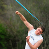 Byfield: Triton's Ryan Clay throws the javelin in a tri-meet with Amesbury and Ipswich. Bryan Eaton/Staff Photo