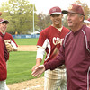 Hamilton: Newburyport High baseball Coach Bill Pettingell and his team celebrate his 600th win beating Hamilton-Wenham. Bryan Eaton/Staff Photo