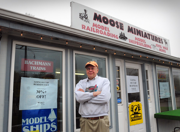 Rowley: Joe Couture is closing his Moose Miniatures Hobby Shop in Rowley which is next to the Agawam Diner. Bryan Eaton/Staff Photo