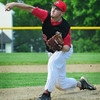 Amesbury: Amesbury's Tyler Lay pitches against North Reading. Bryan Eaton/Staff Photo