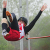 Newburyport: Amesbury's Marissa Randall clears the bar in the pole vault yesterday at Fuller Field. Bryan Eaton/Staff Photo