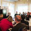 Georgetown: Senator Scott Brown addresses those in attendance at the Greater Newburyport Chamber of Commerce and Industry Annual Luncheon. Bryan Eaton/Staff Photo