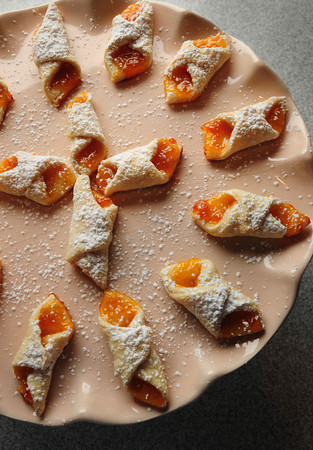 Newburyport: Polish dessert, Apricot Kaleckys.