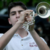 Newburyport: Newburyport high's Doug Medes plays taps at the Newburyport Memorial Day service Monday at Veteran's Cemetary. Jim Vaiknoras/Staff photo
