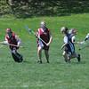 Newburyport: Newburyport Youth Lacross girls play against Swampscott at the Nock Middle School in Newburyport Sunday. Jim Vaiknoras/Staff photo