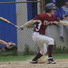 Georgetown: Newburyport's David Cusack with a hit at Georgetown Saturday. Jim Vaiknoras/Staff photo