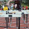 Peabody: Newburyport's Liz Viscone competes in the 4x100m hurtles at Mass. State Track Coaches Relays Sunday at Bishop Fenwick. Jim Vaiknoras/Staff photo