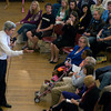 newburyport: About 150 people filled Newburyport City Hall Saturday to meet and ask questions of Senator John Kerry. Jim Vaiknoras/Staff photo
