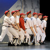 "Newburyport: The Washington Senators played by Daniel Alvarez De Toledo, Sam Moore, Kyle McIntire, Matt Caswell, Eric Meyer, Alyx Allen, Davi Dunn-Pilz,and ,Colin Budzyna, sing ""You Gotta Have Heart"" in the Newburyport high production of Damn Yankees. Jim Vaiknoras/Staff photo"