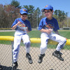 Beverly:Twins Gavin and Cole Russo, 8, enjoy some flavored ice after the Opening Day ceremonies for the Beverly Little League at Harry Ball Field Sunday morning. The boy play for the farm team the Rock Hounds. Jim Vaiknoras/Staff photo