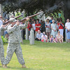 Rowley:  A squad fire a salute during the memorial Day ceremony, in Rowley Town Cemetary Monday. Jim Vaiknoras/Staff photo
