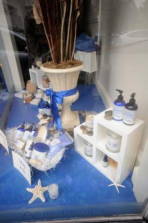 Newburyport: Window display at BC Essentials on Pleasent Street in Newburyport. Jim Vaiknoras/Staff photo