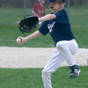 Byfield: Austin Vogt pitches for the Brewers against the Mariners at opening day for the Byfield Little League Saturday. Jim Vaiknoras/Staff photo