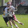 Newburyport: Newburyport attacker Peter Witherbee with a shot on net against Lynnfield. Jim Vaiknoras/Staff photo