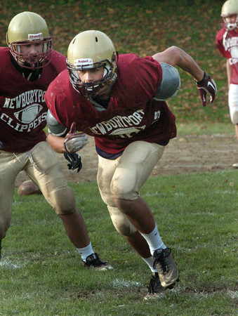 Newburyport: Newburyport High linebacker Jared Bradbury practices Thursday. Bryan Eaton/Staff Photo
