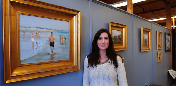 Amesbury: Painter Robin Thornhill is one of the artists displaying work at this weekend's Amesbury Open Studio Tour. Bryan Eaton/Staff Photo