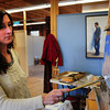 Amesbury: Artist Robin Thornhill works on a Cape Cod scene at the Artist Muse. Bryan Eaton/Staff Photo