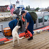 Newburyport: A U.S. Coast Guard crew comes back to the Merrimack River Station last summer after a patrol. Bryan Eaton/File Photo