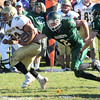 West Newbury: newburyport's Tyler Martin breaks into the open field at Pentucket Saturday. Jim Vaiknoras/Staff photo