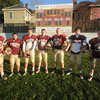 newburyport: Newburyport high football team seniors : from left  Trevor Pituck, Tyler Martin, Payson Cahill, James Comway, Jared Bradbury, Brett Fontaine, and James Hundertmark. Jim Vaiknoras/staff photo