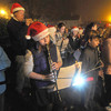 Salisbury: The Salisbury Elementary School band performs at theChristmas Tree lighting in Salisbury Square Sunday night. staff photo