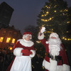Newburyport: Santa and Mrs. Claus wave in Market Square at the annual Newburyport Santa Parade and tree lighting. Jim Vaiknoras/staff photo
