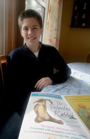 Newburyport:  Colin Budzyna, 14,  is starring in Boston Children's Theatre's production of THE VELVETEEN RABBIT.
