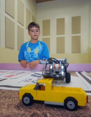 West Newbury: 5th grader Matt Hersey works on his Lego project at the 1910 building in West Newbury. jim vaikoras/staff photo