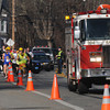 Salisbury: Salisbury fire truck 204 lead the Timmy trot 5k race/walk down Laffeyetts Rd in Salisbury Friday morning, the race honored Salisbury firefighter Timothy Oliveira who was killed this past summer. Jim vaiknoras/staff photo