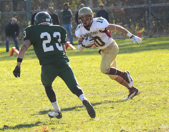 West Newbury: Newburyport's Brett Fontaine makes a move  at Pentucket Saturday. Jim Vaiknoras/Staff photo