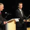 Amesbury: Mayor Thatcher Kezer and candidate Ted Semesnyei square off in last nights mayoral debate at Amesbury high