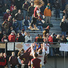 Newburyport: The Newburyport high cheerleaders challange the laws of gravity as they toss one of their own high in the air during half-time at teh Newburyport/Amesbury Thanksgiving day fottball game at World War Memorial Stadium in Newburyport. staff photo
