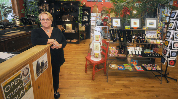 Amesbury:  Nancy Plante owner of the Riverwalk Bead Shop is  taking part in the annual Amesbury Open Studio Tour. Jim Vaiknoras/Staff photo