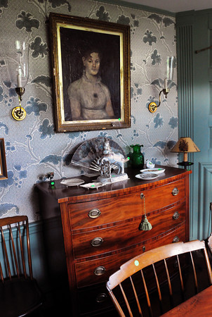 Newbury: The dining room in the Lunt home on Green Street in Newbury. Bryan Eaton/Staff Photo
