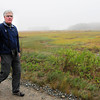 Rowley: Bill Gette of the Audubon's Joppa Flats Education Center at new marsh and upland that Mass. Audubon has acquired off Route 1A in Rowley. Bryan Eaton/Staff Photo