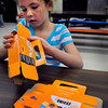 Amesbury: Emma Porter, 7, helped counselors at the Amesbury Recreation Department's Afterschool Program put together Unicef boxes. The children were given instruction on how to collect for the charity, which is in its 60th year. Bryan Eaton/Staff Photo