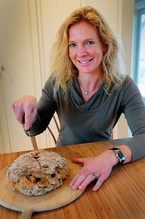 Newburyport: Cook of the Month, Sandy Manley with Cranberry Walnut Soda Bread. Bryan Eaton/Staff Photo