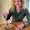 Newburyport: Cook of the Month, Sandy Manley with Cranberry Walnut Soda Bread. Bryan Eaton/Staff Photo