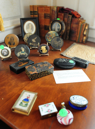 Newbury: Several items including snuff boxes in the Lunt home. Bryan Eaton/Staff Photo