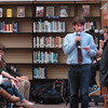 Byfield: Congressman John Tierney listens as Triton High student Gabe Marcolini asks a question. Bryan Eaton/Staff Photo