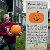 Newburyport: Steve Crosby, who for years had elaborate Halloween displays at his home on Marlboro Street in Newburyport from Scooby-Do's bus to Star Wars ship is encouraging people to take their carved pumpkins in Market Square for the weekend. Bryan Eaton/Staff Photo