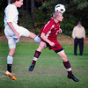 Georgetown: Georgetown's Patrick Slack, left, and Newburyport's Adam Traxler try for the ball. Bryan Eaton/Staff Photo