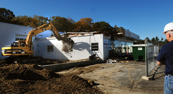 Amesbury: Demolition began on what used to be Yeo Chevrolet on Route 110 in Amesbury yesterday morning. Amesbury Chevrolet will construct a new building with drive-through service on the site. Bryan Eaton/Staff Photo