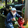 Newbury: Newbury resident Bob Walton attached snow markers to fire hydrants on Parker Street yesterday. He also painted all of the hydrants in old town as thanks to the Newbury Fire Department which responded to a fire at his Anchor Way woodworking shop in April of 2010. Bryan Eaton/Staff Photo