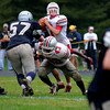 Hamiton: Amesbury's Matt Talbot looks downfield at Hamilton Saturday. Jim Vaiknoras/staff photo