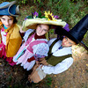 Newburyport:Madeline Moore and Lucy Scold as the evil step sisters and Mara Spears as the witch from Handsel and Gretel  in Maudslay is Haunted.<br /> Photo by Jim Vaiknoras/Newburyport Daily News Sunday, October 14, 2007