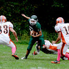 West Newbury: Pentucket's DJ Engelke slips a tackle at home against Ipswich Saturday. JIm Vaiknoras/Staff photo