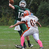West Newbury: Pentucket's Ryan Kuchar looks for a reciever at home against Ipswich Saturday. JIm Vaiknoras/Staff photo