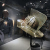 Boston: A gladiator helmet from Pompeii at the new exibit at the Miseum of Science. JIm Vaiknoras/Staff photo