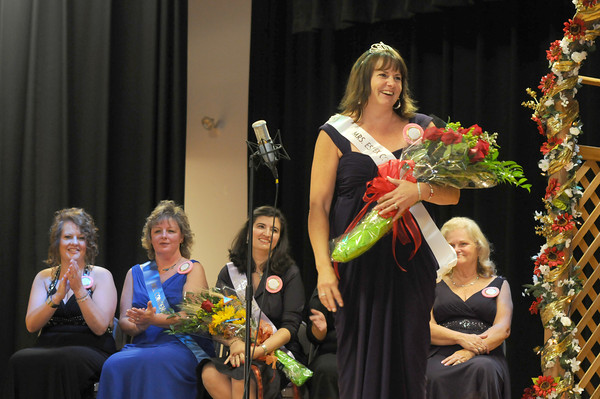 Topsfield: The newly crowned Mrs Essex County, Belinda Barbas at the Topsfield Fair Sunday. Jim Vaiknoras/Staff photo